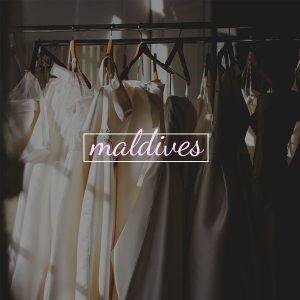 Wedding Gown in Maldives