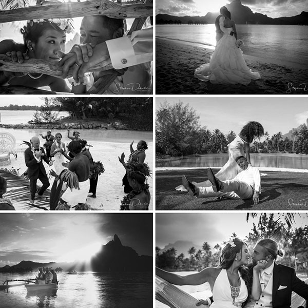 Wedding photographer videographer in Tahiti